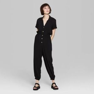 Wild Fable Women's Button Front UtilityJumpsuit